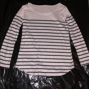 Tops - White and black long sleeved shirt